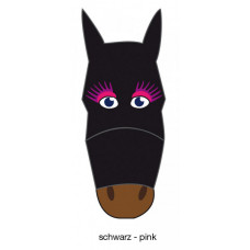 FLY MASK WITH MOTIF - black-pink