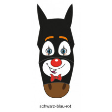 FLY MASK WITH MOTIF - black-blue-red