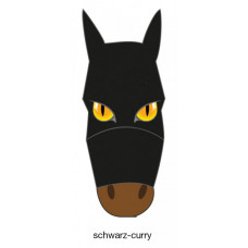 FLY MASK WITH MOTIF - black-curry