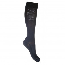 Riding socks -Silicone- black