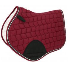 "Equitheme"" sport"" saddle pad burgundy red"