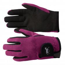 Horze Kids Stretch Gloves - purple
