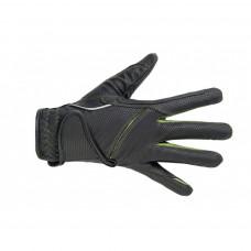 Riding gloves -Fashion- Black/grass green