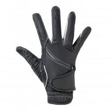 Riding gloves -Fashion- Black/grey