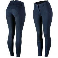 Horze Daniela Women's Silicone FS Breeches Blue