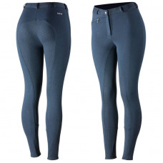 Horze Women's Active Silicone Grip Full Seat Breeches Blue