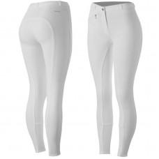 Horze Women's Active Silicone Grip Full Seat Breeches White