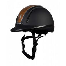 """RIDING HELMET """"30014"""" black-dark brown"""