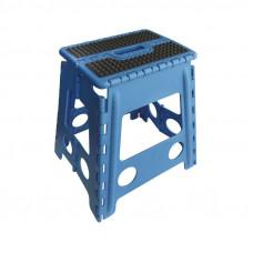 "HIPPOTONIC ""GRIP"" FOLDING STEP STOOL- blue"