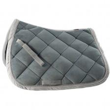 B Vertigo Velour Lux All Purpose Saddle Pad denim blue