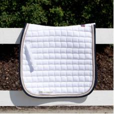 B Vertigo Lexington Dressage Saddle Pad White