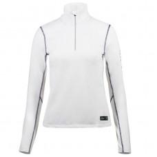 B Vertigo Roxane Women's Long Sleeve Zip Polo Shirt White