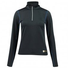 B Vertigo Roxane Women's Long Sleeve Zip Polo Shirt Black