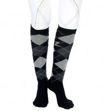 Horze classic patterned knee sock black