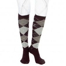 Horze classic patterned knee sock brown