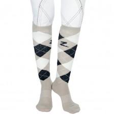 Horze classic patterned knee sock beige